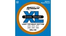 D'ADDARIO EXL140 SET LIGHT/HEAVY BOTTOM Струны для электрогитары, 10-52, никель